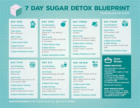 Withdrawal Detox Diet by Sugar Detox Plan A 7 Day Blueprint For Quitting Sugar