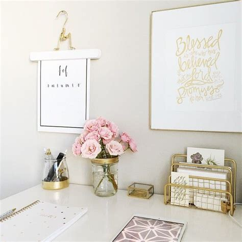 Office Desk Ornaments Instagram Photo By Augustandmaydesign Via Ink361 My Style Pinterest Gold Office Decor