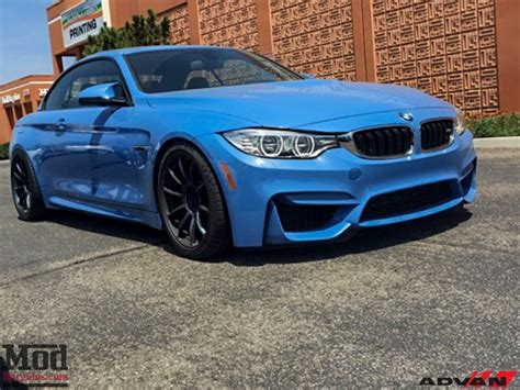 Advan M4 Yas Marina Blue Bmw M4 Cabriolet On Advan Wheels