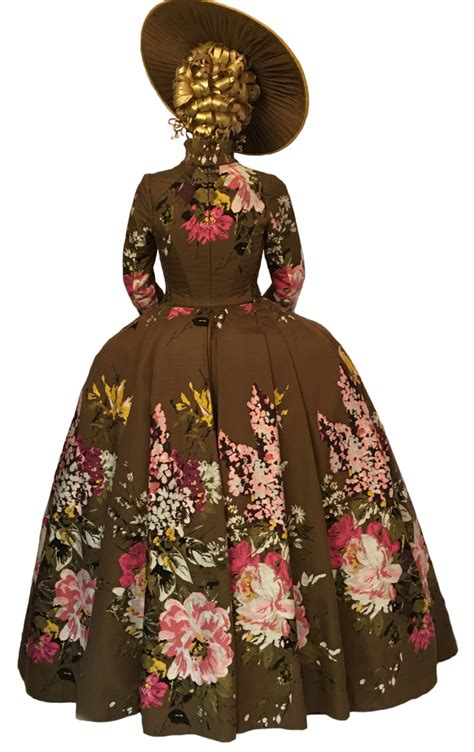 design a victorian dress game claire fraser s brown flower dress png by dlr designs on