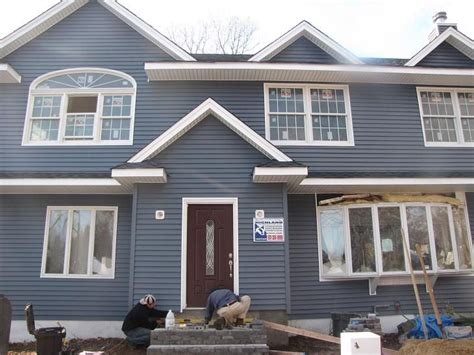 blue gray house grey blue house exteriors pinterest exterior paint colors brown roofs and house