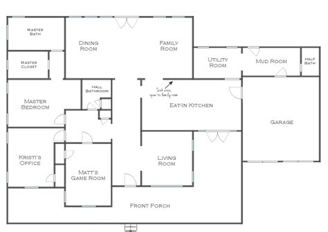 great room floor plan single story distinctive simple