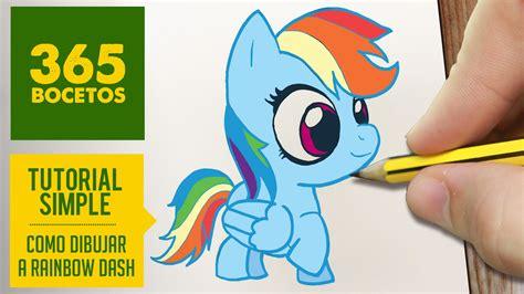imagenes kawaii mlp como dibujar a rainbow dash paso a paso dibujos kawaii