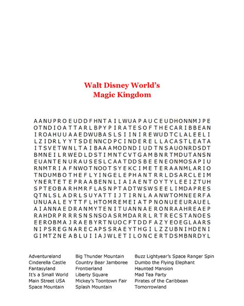 World Search 15 Free Disney Word Searches Baby
