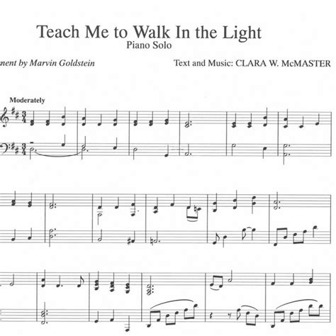teach me to walk in the light sheet a spirit of songbook digital marvin