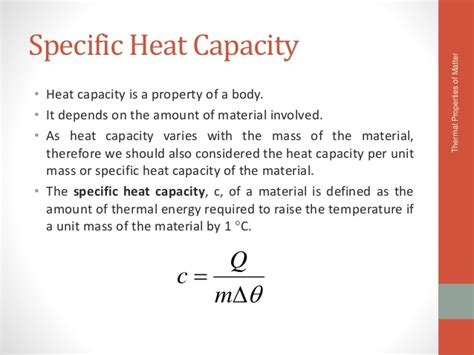 design capacity meaning thermal properties of matter