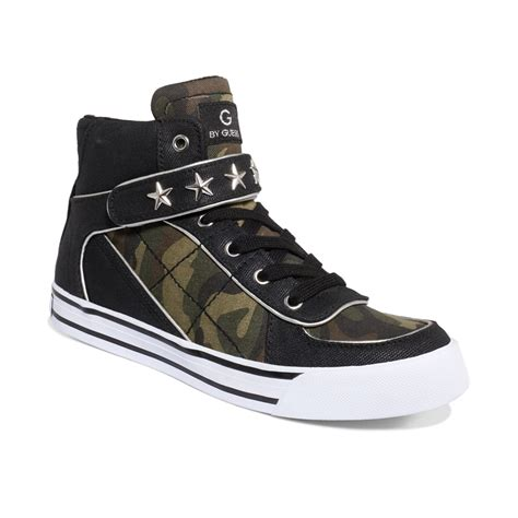womens camo sneakers g by guess womens shoes high top sneakers in green