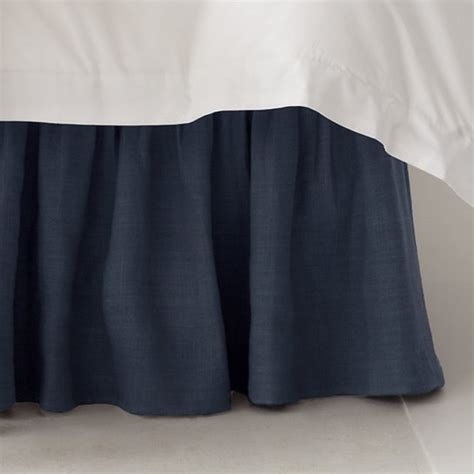 navy blue bed skirt solid navy blue bedskirt ruffle