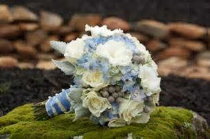 blue flowers for wedding wedding by designs blue and yellow flower wedding collection