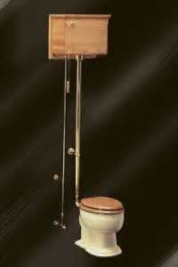 Indoor Plumbing Invented by Antique Toilet With Wall Mounted Tanks And Pull Chain
