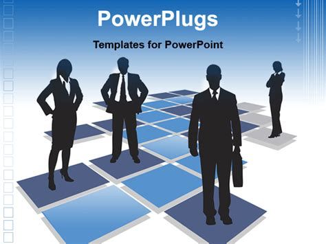 free animated business powerpoint templates powerpoint template professionals standing on blue