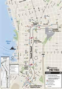 Seattle Light Rail Map Pdf by Downtown Seattle Transit Tunnel King County Metro Transit