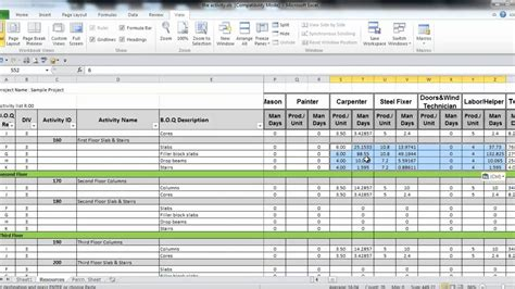 manpower planning excel template virtren manpower