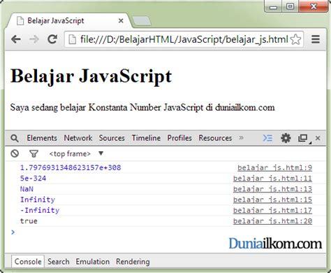 javascript pattern integer contoh penggunaan property atau konstanta objek number