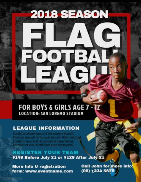 Flag Football Flyer Templates Free