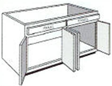 Bsb48 Kitchen Sink Range Base Cabinet 48 Quot W X 34 1 2 Quot W   sink range cabinets