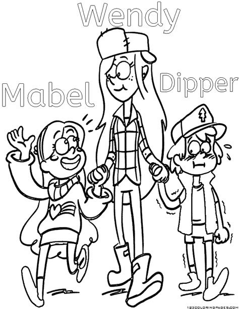 Gravity Falls Coloring Pages Gravity Falls Printable Coloring Pages