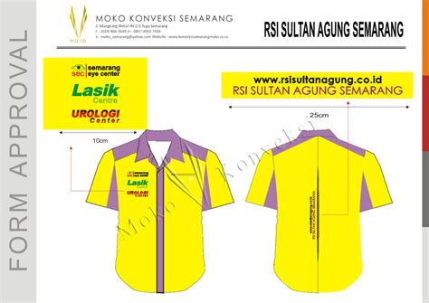 desain gambar jemper konveksi semarang moko baju seragam rumah sakit islam