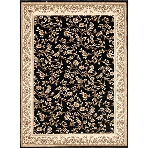 home world rugs world rug gallery manor house black floral 4 ft x 5 ft 3 in area rug 7861 the home depot