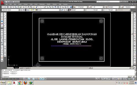 format kop gambar imb tips dunia arsitektur bangunan jasa gambar imb denpasar