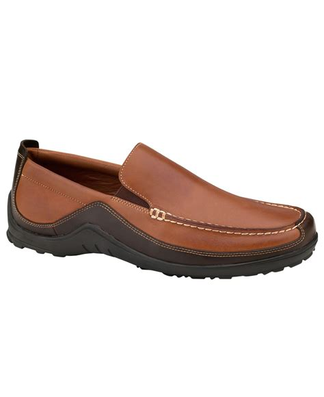 cole haan brown loafers lyst cole haan tucker venetian loafers in brown for