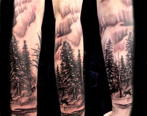 themed tattoo designs forest sleeve designs ideas and meaning tattoos