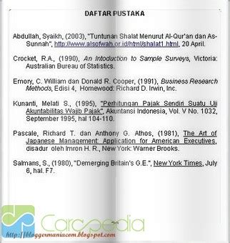 format daftar pustaka dari majalah contoh cara membuat daftar pustaka makalah loyal bee