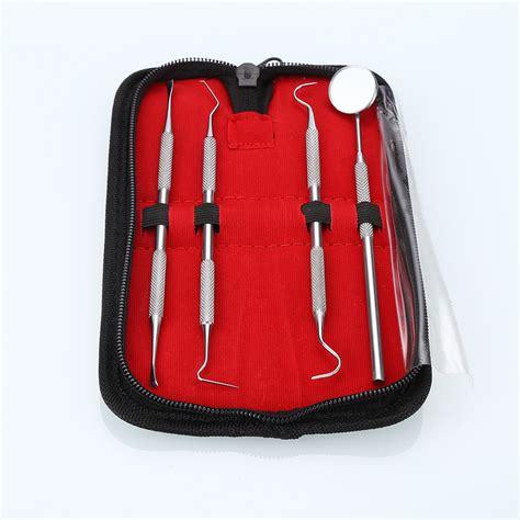 pcsset oral hygiene tool kit scraper mirror scaler