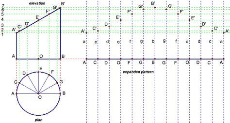 Pattern Development Parallel Line | parallel line development round pipes