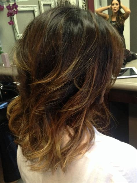 how to ombre shoulder length hair short shoulder length ombre hair stella salon in