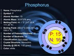 Protons Neutrons And Electrons Of Phosphorus Non Metals