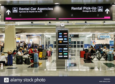 Rental Car Miami Port by Miami Florida International Airport Terminal Concourse Gate Area Stock Photo Royalty Free