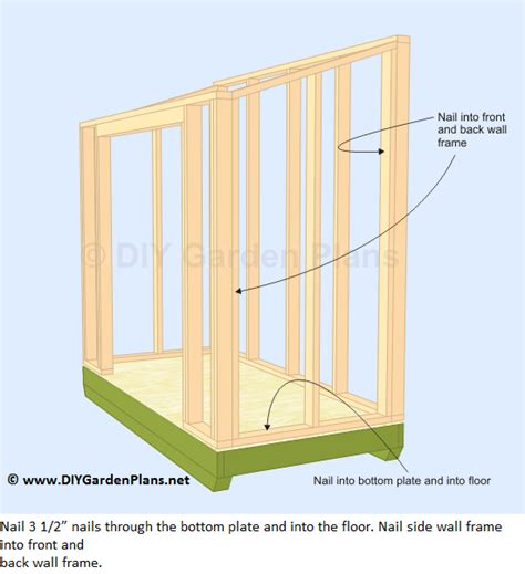 Building A Lean To Shed Plans by How To Frame A Shed Roof How To Build The Lean To Shed