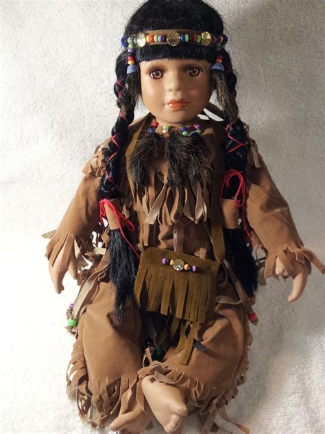 porcelain doll american indian american indian porcelain doll ebay