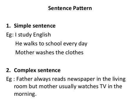 sentence pattern regex noun