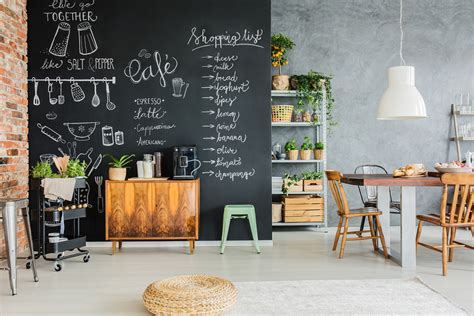 chalkboard decor  ideas   kitchen