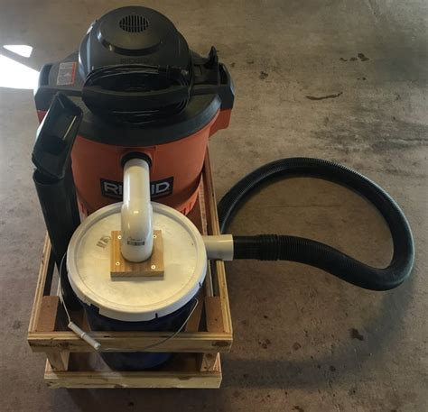 diy shop vac cyclone  mobile cart  palakse
