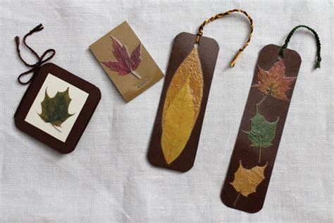 Aplikasi Daun Kering Pressed Leaf things with pressed leaves a bookmark gift card