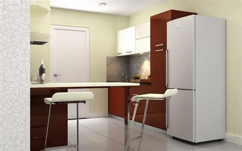 Kitchen With Oak Cabinets buy heron modern parallel kitchen online homelane india