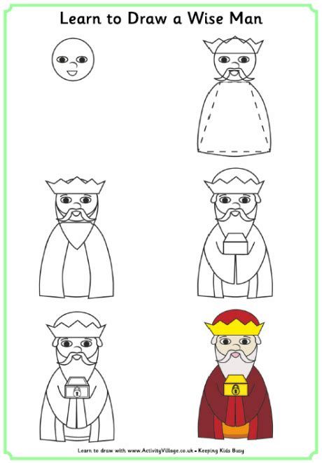 learn to draw a king