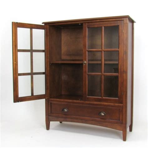 bookcase with glass door 1 shelf barrister bookcase with glass door in brown 9122