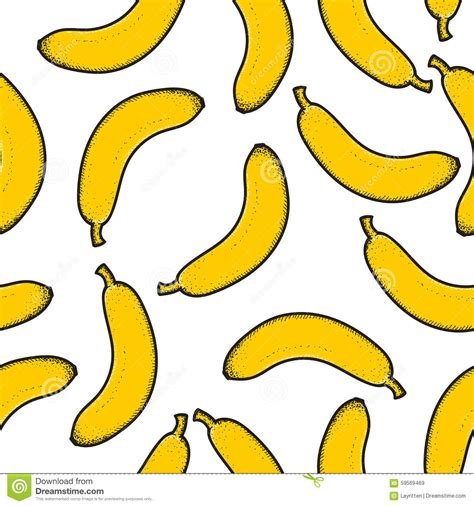 Banana Doodle Wallpaper | seamless pattern with bright scattered doodle bananas