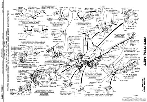 Truck Hydraulic Brake System Diagram Ford Truck Technical Drawings And Schematics Section B