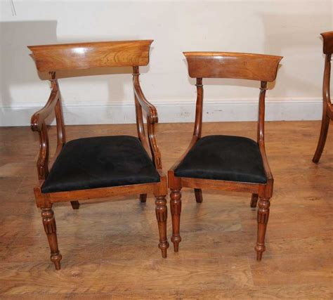 Regency Dining Chairs 10 Walnut Regency Dining Chairs Armchairs Seats