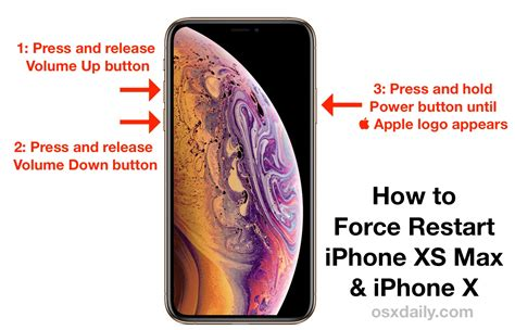 how to reboot iphone xs max iphone xs iphone xr