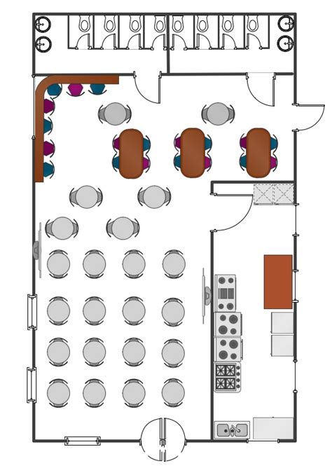 Cafe Floor Plan by Cafe Floor Plans Professional Building Drawing