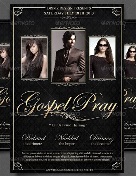 gospel flyer template 15 stylish flyer templates exles creativedive