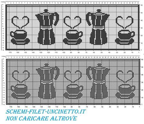 schemi tende filet gratis tenda mantovana bordo caffettiea e tazze schema filet