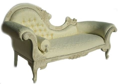 ornate chaise lounge ornate french period shabby chic antique white chaise