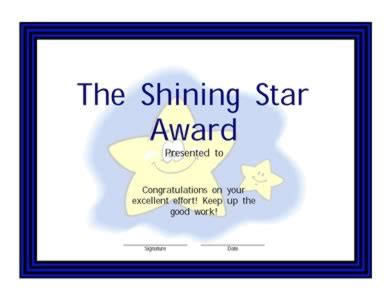 printable star awards shining star award certificate 2 certificate templates